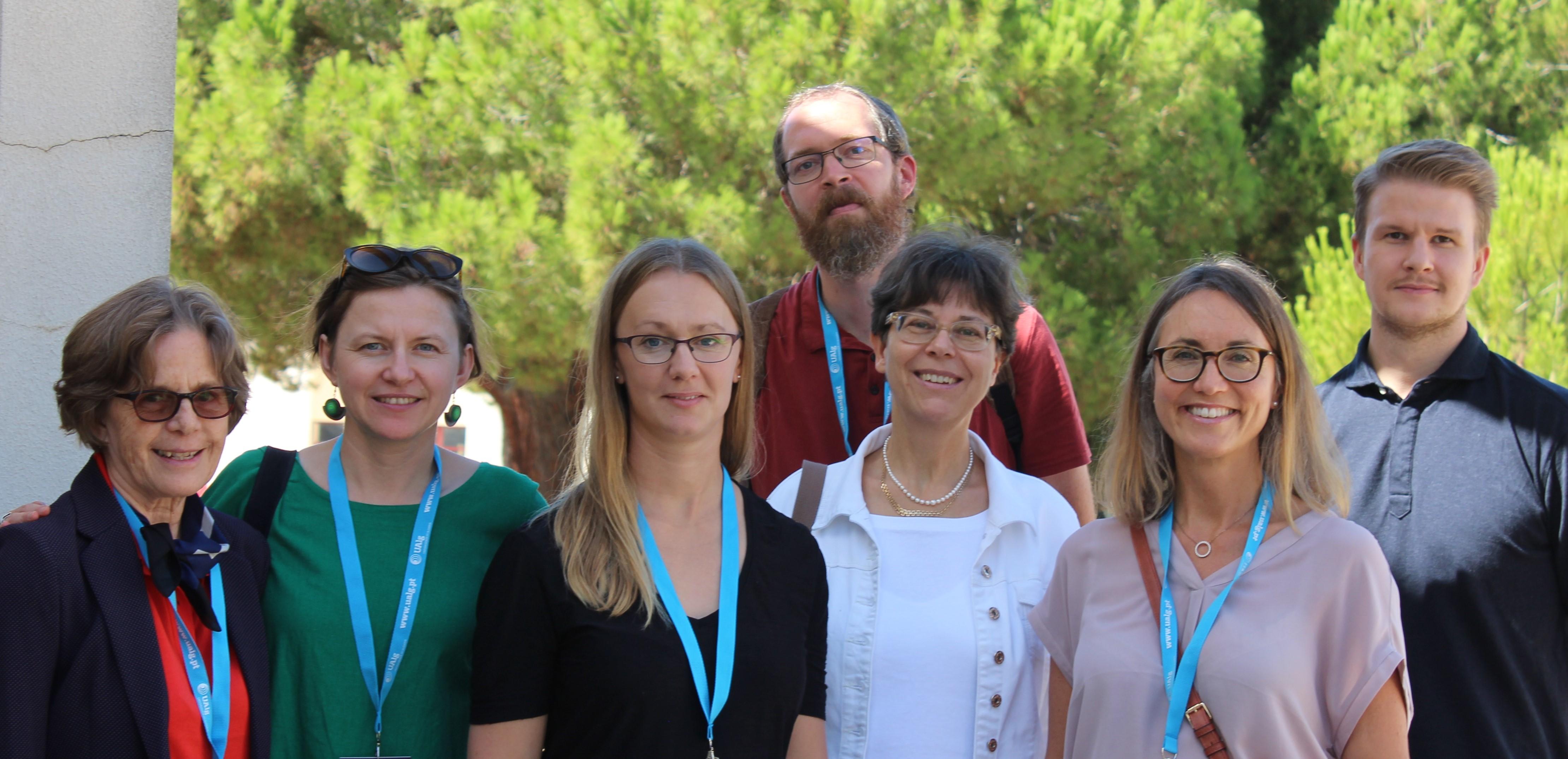 Happy Swedish conference participants (from left): Ann-Kristin Boström, Malgosia Malec Rawinski (Stockholm University), Sara Bref, Joel Hedegaard, Helene Ahl, Cecilia Bjursell and Magnus Schoultz (Örebro University).