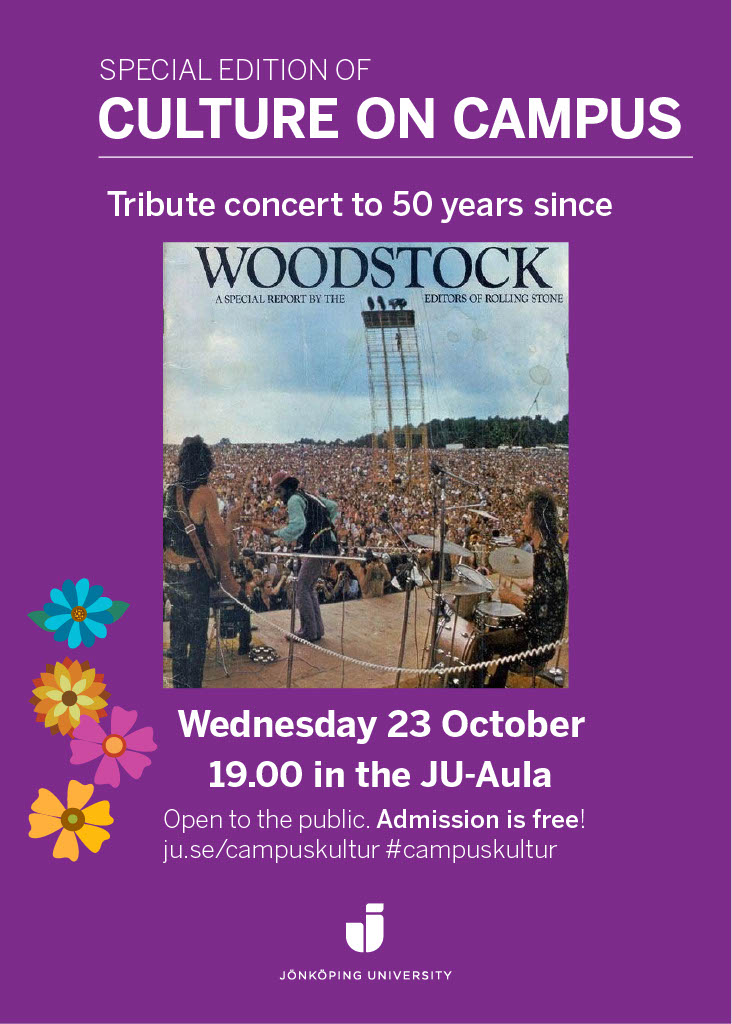 Poster: tribute concert to woodstock