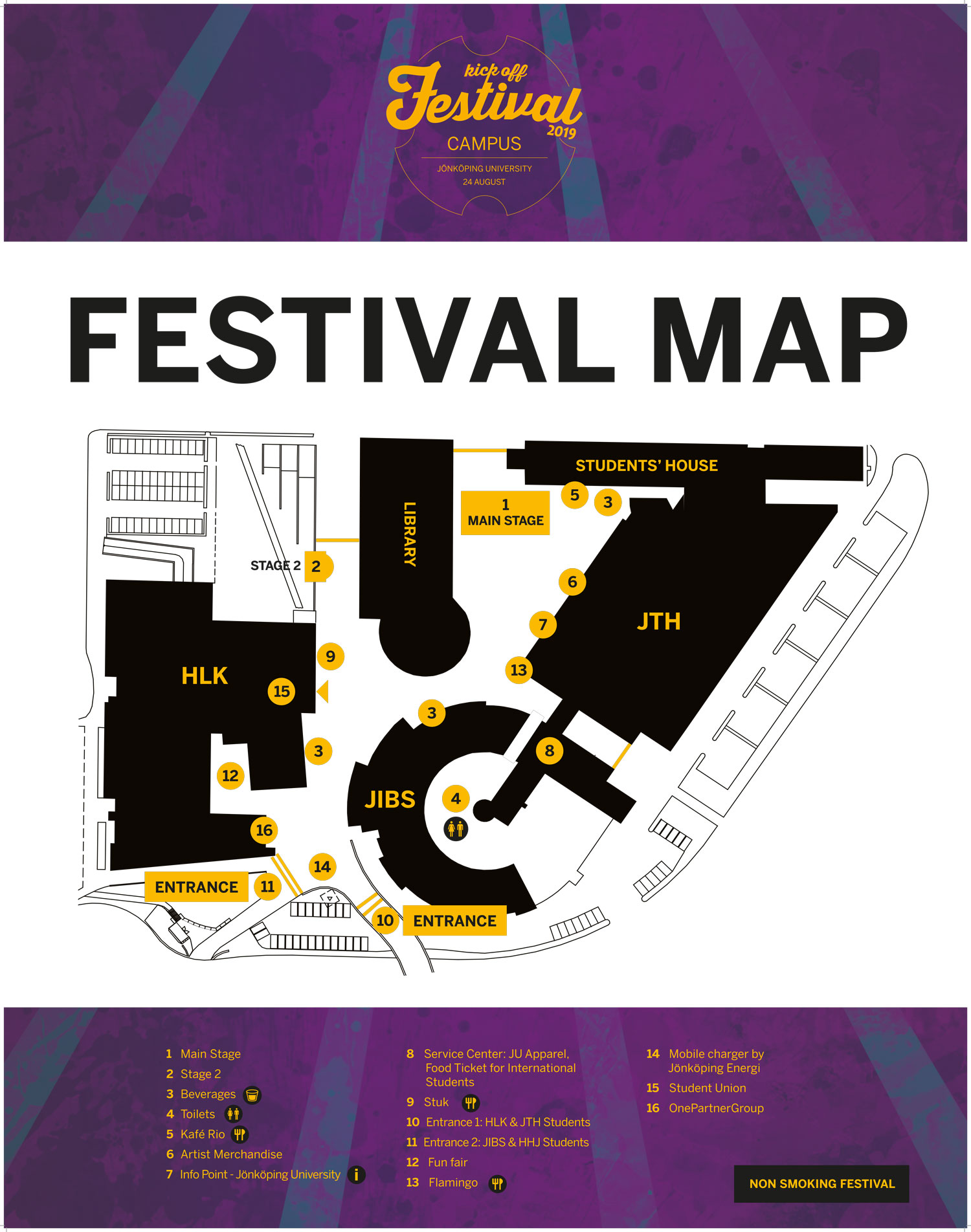 Kick Off Festival Map