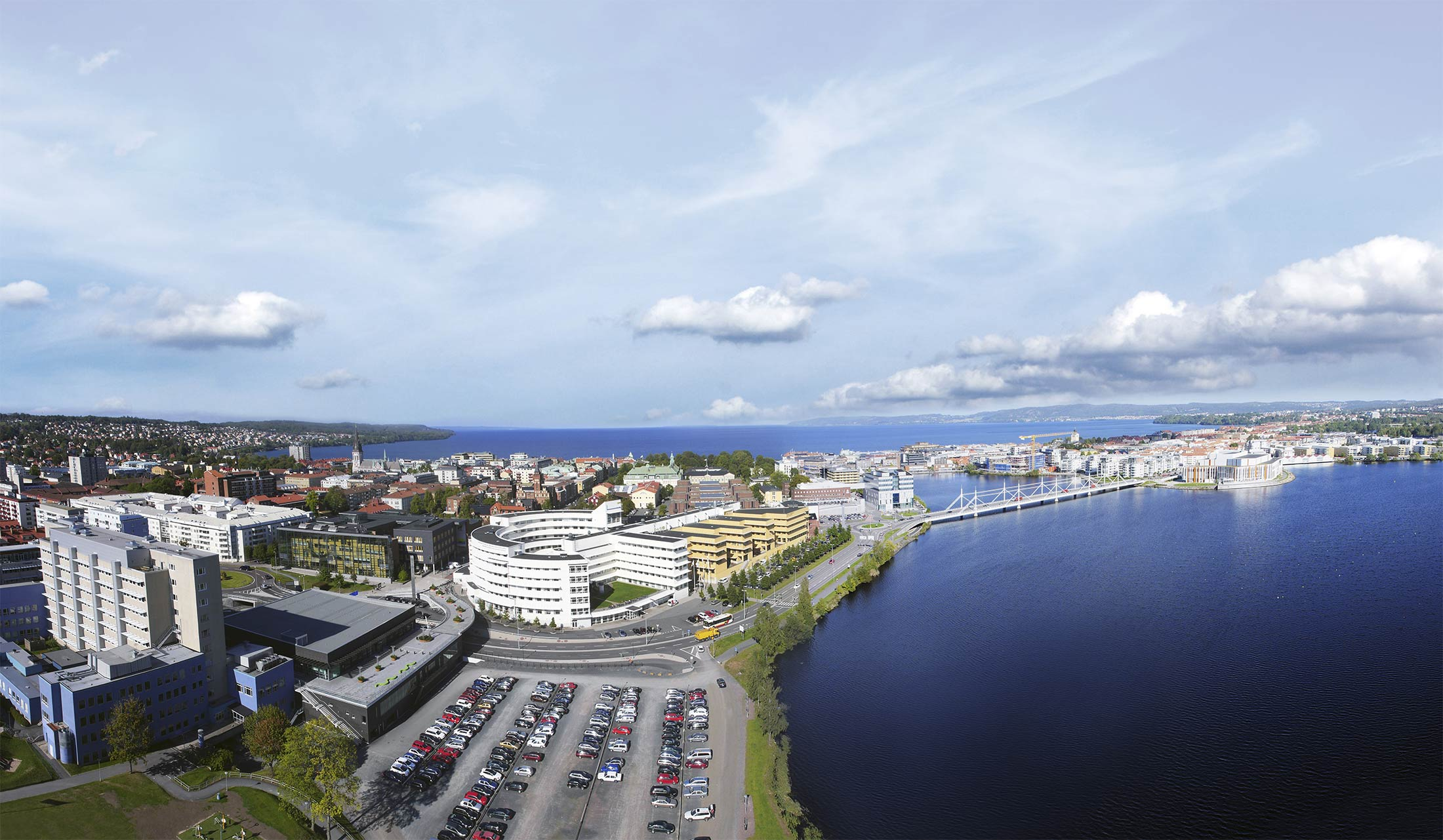 Jönköping University campus, in the middle of the beautiful city of Jönköping, situated by lake Vättern in the southern part of Sweden.