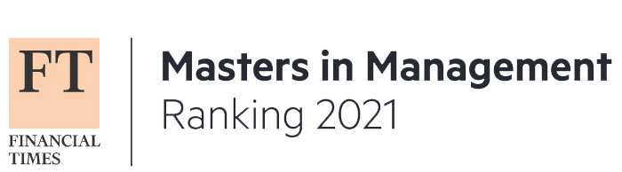 Ranked among top 100 Masters in Management by Financial Times.
