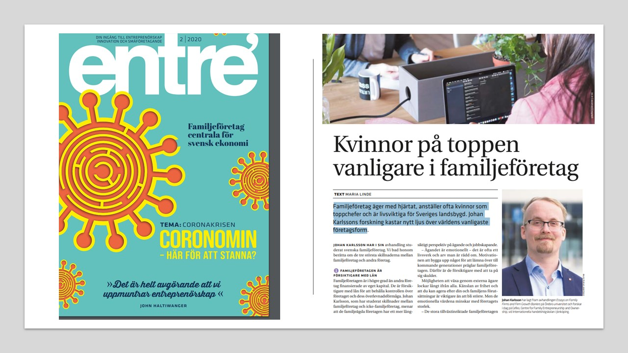 CeFEO Researcher Johan Karlsson featured in Entrè magazine